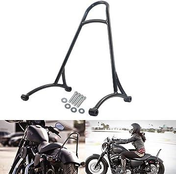 Schwarze Kurze Sissy Bar Rückenlehne Für Harley Sportster Iron 1200 883 Xl 2004 2016 Auto