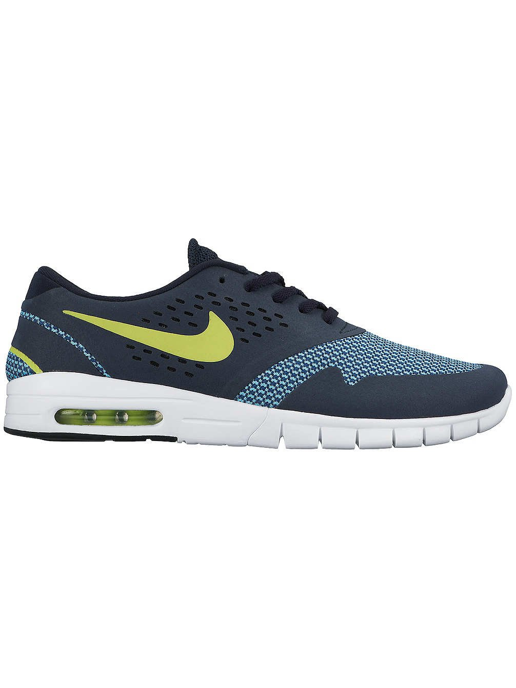 Nike Herren Eric Koston 2 Max Skaterschuhe, Rot, Talla  42.5 EU|Schwarz / Grau / Blau (Dark Obsidian / Cyber-brgd Blau)
