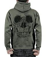 Sweat shirt zipp capuche homme tattooed skull amazon - Tatouage cavalera ...