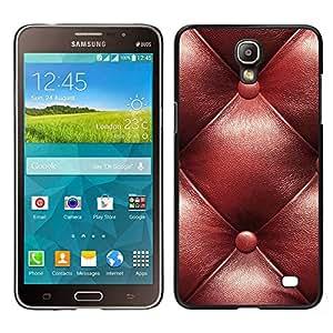 Samsung Galaxy Mega 2 / SM-G750F / G7508 Único Patrón Plástico Duro Fundas Cover Cubre Hard Case Cover - Leather Brown Maroon Pattern