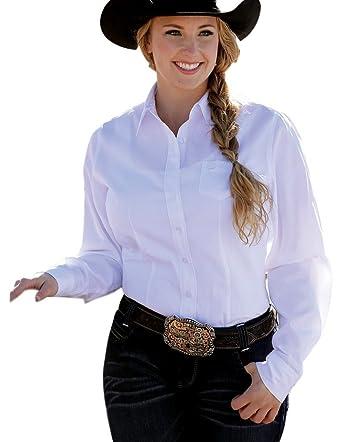 0b44ab6d5 Cinch Apparel Womens White Button Down Shirt at Amazon Women's ...