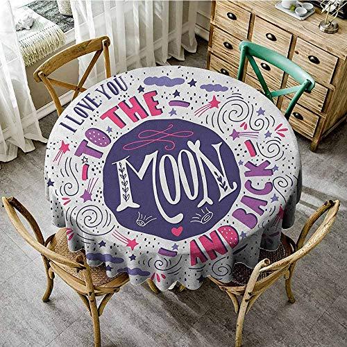 (Round Tablecloth Machine Washable 67