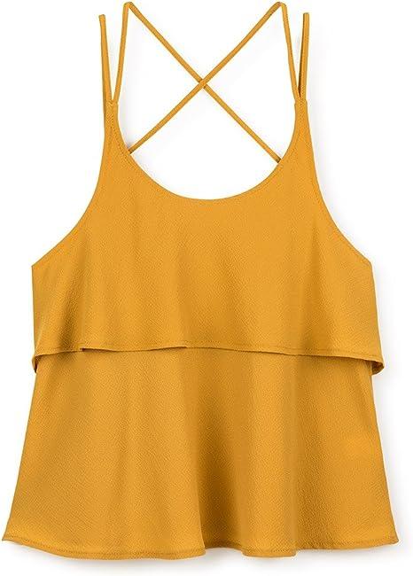 Gocco S75CBCCV701 Blusa, Amarillo (Amarillo Oscuro), 11-12 años para Niñas: Amazon.es: Ropa y accesorios