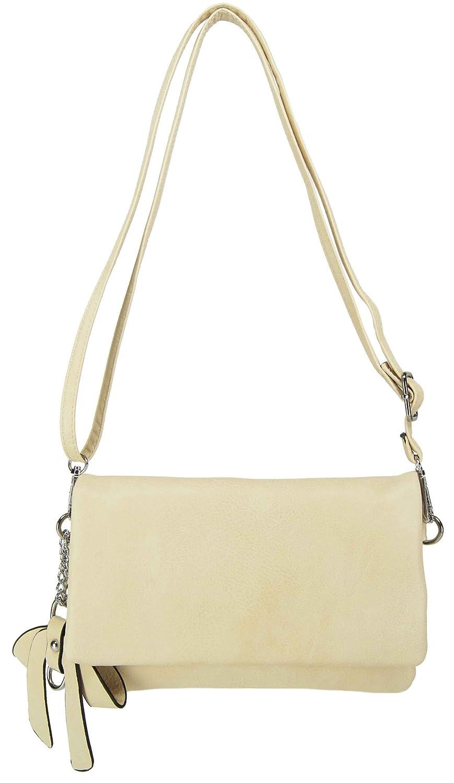 CASAdiNOVA Damen Tasche 2in1 Set Clutch Umhängetasche Modern Bag (Farbauswahl) Vegan Leder 25cm/15cm/3cm