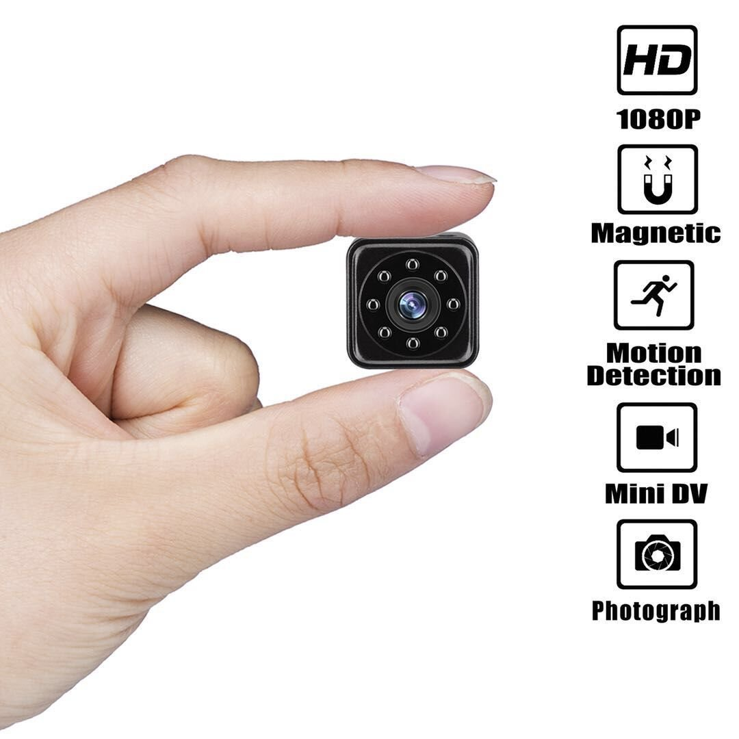 Mini Camera - Hidden Cameras - Spy Cam - HD 1080P Portable Video Recorder with IR Night Vision Motion Detection Security Surveillance for Home, Car, Drone, Office