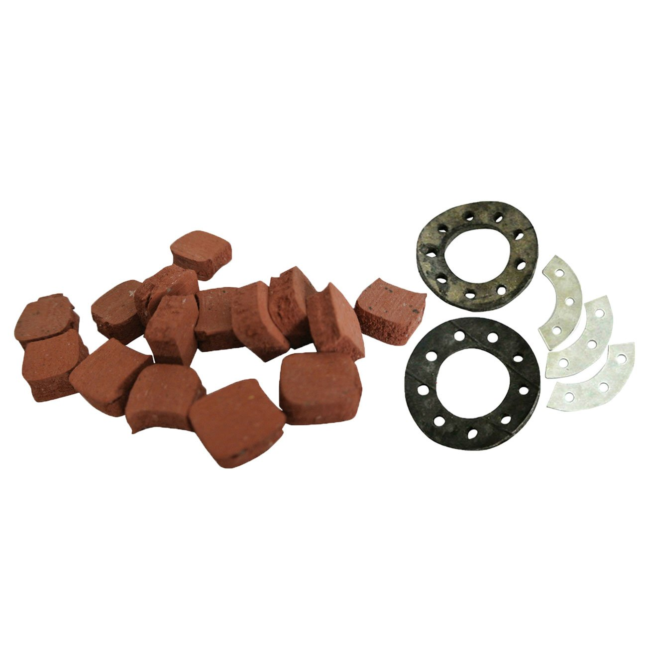 Supermotorparts Sprocket Mount Kit&15xSquare Clutch Pads For 49cc 66cc 80cc Motorized Bicycle