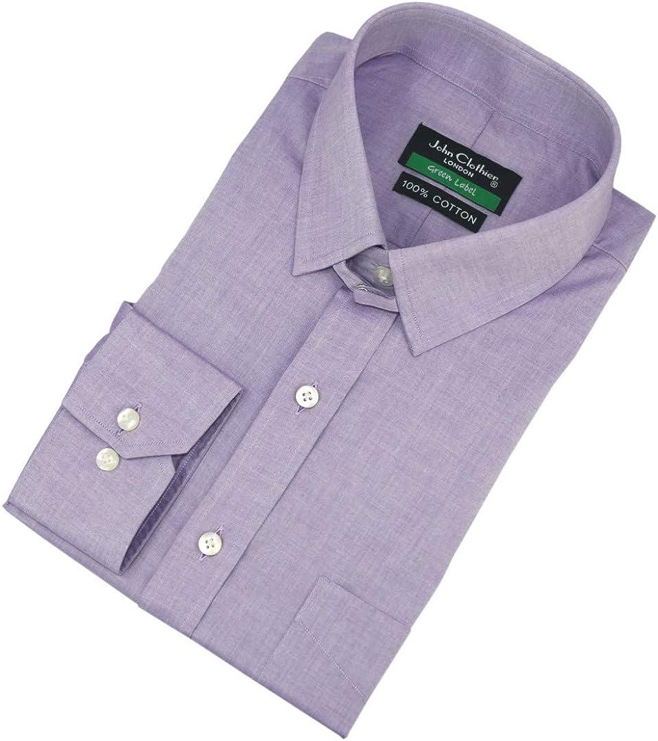 WhitePilotShirts Tab Collar Mens Shirt Lilac Purple 100/% Cotton Long Sleeves Single Cuff Gents 200-16