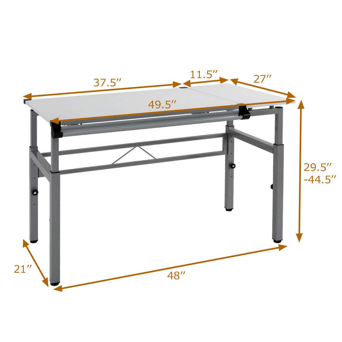 Seleq Adjustable Steel Frame Drawing Desk Drafting Table by Seleq (Image #2)
