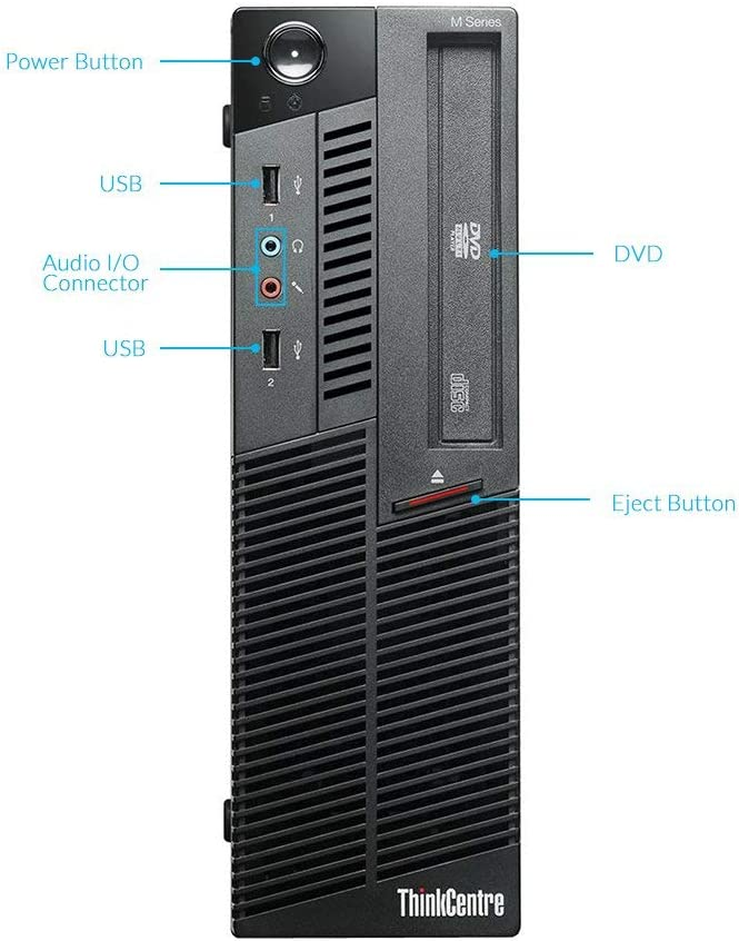 2TB HDD DVD 8GB DDR3 RAM Lenovo IBM M90P Small form factor Business Desktop Computer Certified Refurbished Windows 10 Home Intel Dual Core i5 Up to 3.46GHz Processor