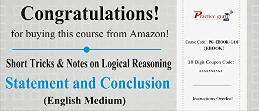 Best statement and conclusion reasoning tricks having greater than.