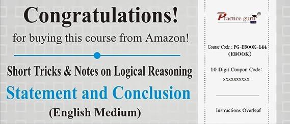 Statement assumption in hindi medium reasoning session 1 ssc cgl.