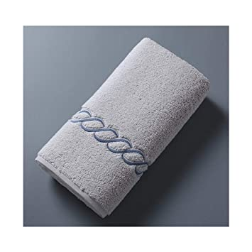 WEN-Bath Sheets Toalla de algodón Lavar hogar Gris Bordado Toalla de Cara Engrosamiento 75 * 40cm Peso 235 Gramos de Agua (Color : Gray): Amazon.es: Hogar