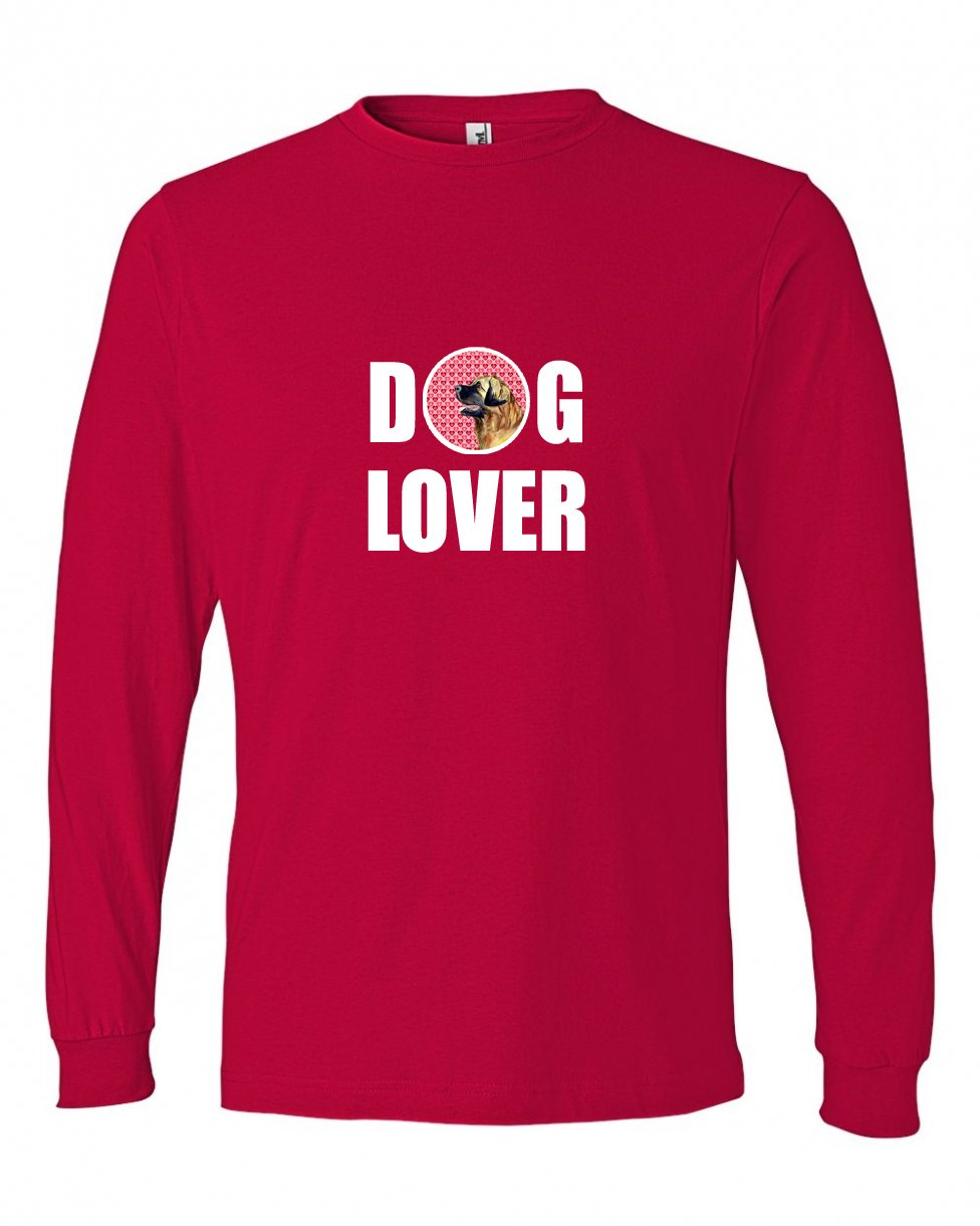 Carolines Treasures LH9168LS-REDU-Parent Leonberger Love and Hearts Long Sleeve Red Unisex Tshirt Multicolor