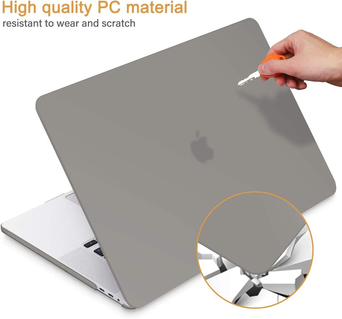 May Chen Newest MacBook Pro 13 inch Case 2020 Release A2289 A2251 Clear Plastic Crystal Clear Hard Shell Case Cover for MacBook Pro 13 with Retina Display and Touch Bar Fits Touch ID