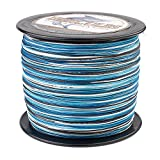 HERCULES Super Cast 500M 547 Yards Braided Fishing Line 200 LB Test for Saltwater Freshwater PE Braid Fish Lines Superline 8 Strands - Blue Camo, 200LB (90.7KG), 0.75MM