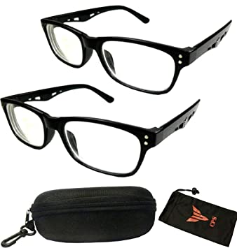 7cf5a72c7c Amazon.com  2 Pairs Nearsighted Myopia Lens Plastic Frame Eyeglass ...