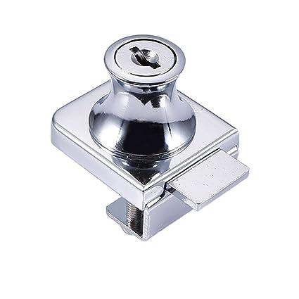 Alftek - Cerradura de Cristal de aleación de Zinc para Armario, Cerradura de 5 –