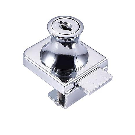 Cutogain Cerradura de Cristal de Aleación de Zinc para Puerta de Cristal DE 5 – 8