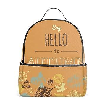 e3e67997f6 Amazon.com  Say Hello To Autumn School Bookbags for Girls