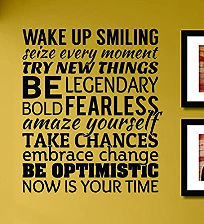 Amazoncom Wake Up Smiling Seize Every Moment Try New Things