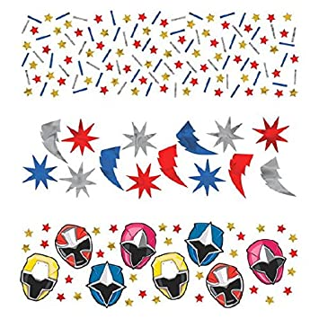 Power Rangers Ninja Steel Value Confetti, Party Favor