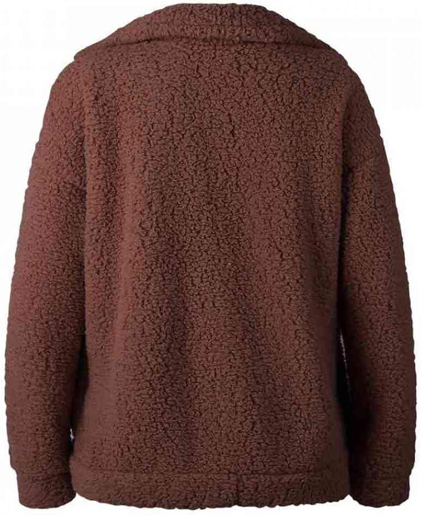 SONGANG Jackets for Women,Casual Fleece Fuzzy Faux Shearling Warm Winter Oversized Outwear Jackets Shaggy Coat