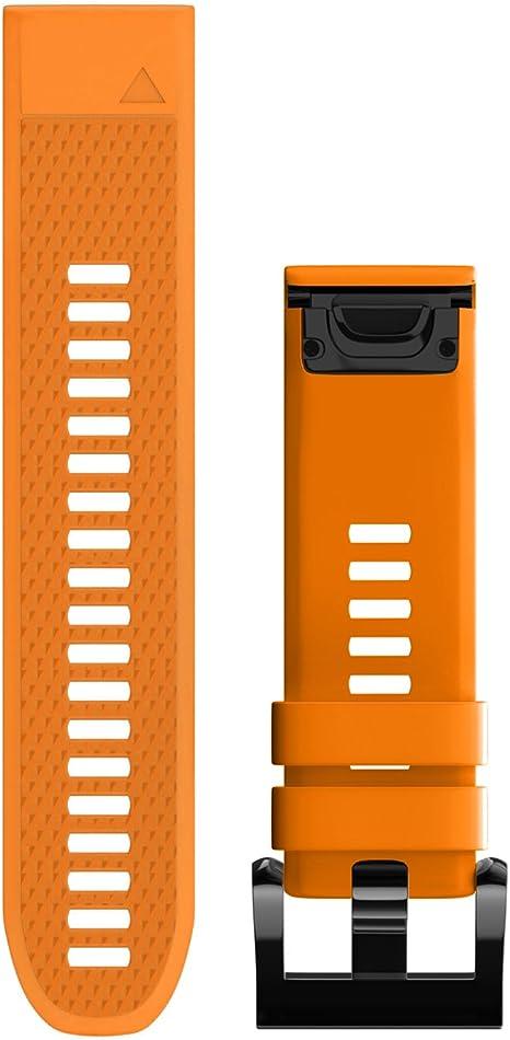 Arancione Garmin Cinturino per Garmin Fenix