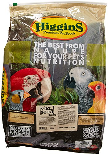 HIGGINS 466164 Vita Seed Canary Food for Birds, 25-Pound by Higgins