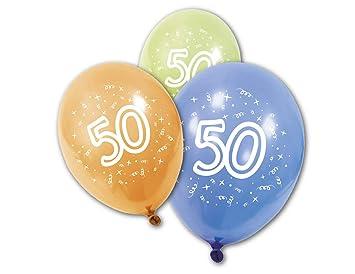 Generique - 8 Globos cumpleaños 50 años: Amazon.es: Juguetes ...