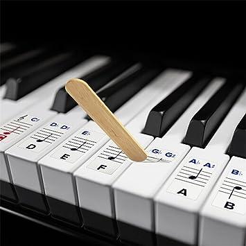 travet Piano y Teclado Música Nota Juego completo de vinilo para blanco y negro teclas: Amazon.es: Hogar