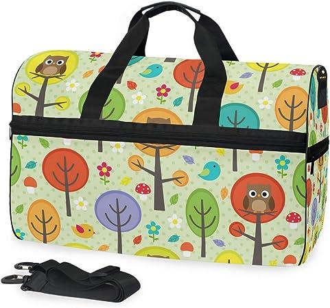 Colorful Owl Print Design Gym Bag