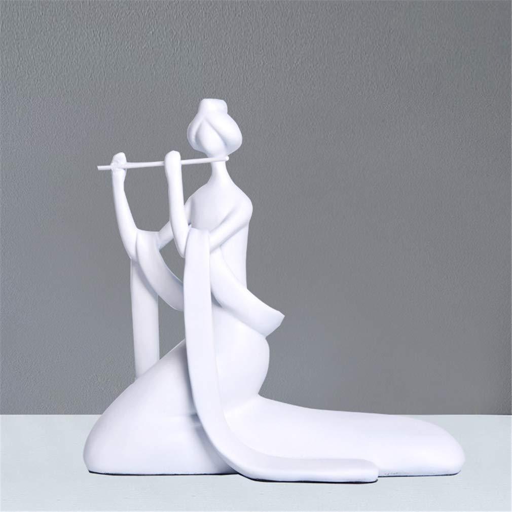 D Sculptures Statues Modern Home Decoration Decoration Resin Crafts White Character Artwork Living Room Arrangement