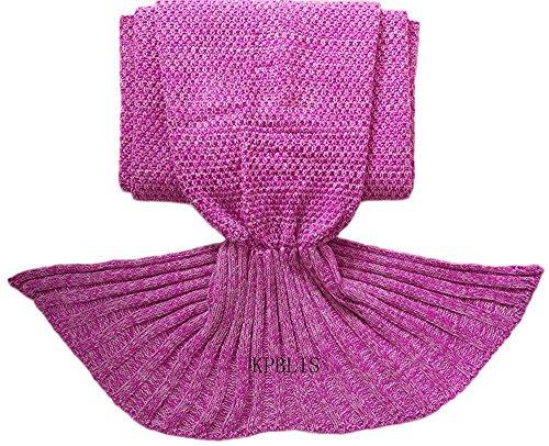 Knitting Items In Dubai : Kpblis inch knitted mermaid blanket pink in the uae