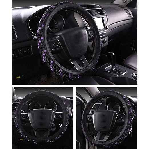 Amazon.com: ADHW Car Steering Wheel Cover,Ice Silk Universal 15 inch Anti Slip Heat Resistan Cold Resistant Automotive Interior Accessorie MTH-21 (Color ...