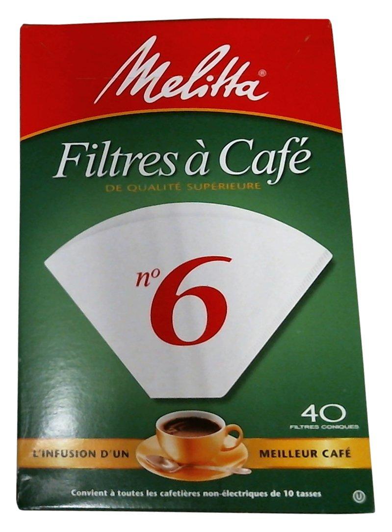 40CT #6 WHT Cone Filter