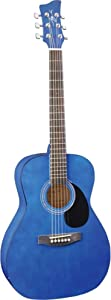 Jay Turser JJ43 3/4 Acoustic Guitar - Trans Blue