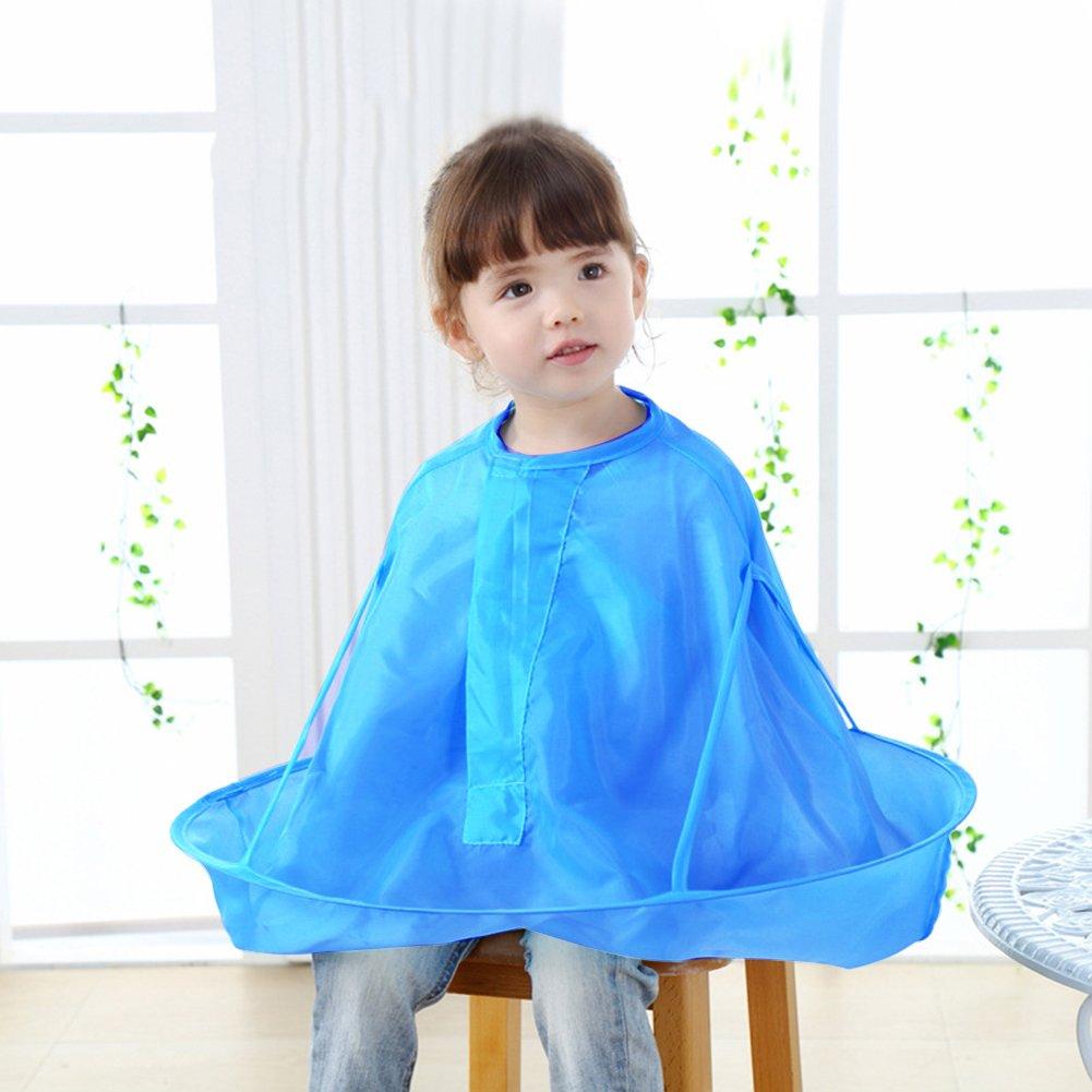 Baby Kids Children Haircut Catcher Cloak Apron Cape Hairdresser Barber Haircut Umbrella Blue iBellete