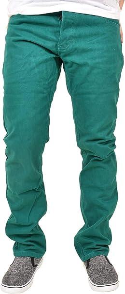 Mens Kushiro City Jeans Stretch Slim Fit Twill Straight Leg Trouser Chinos Pants