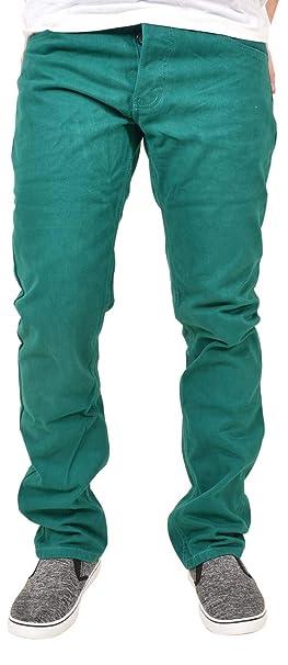 Kushiro City Twill Chino Pantalones Vaqueros de Ajuste Regular para Hombre
