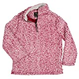 True Grit Kid's 1/4 Zip Frosty Tipped Pile Red Pullover L