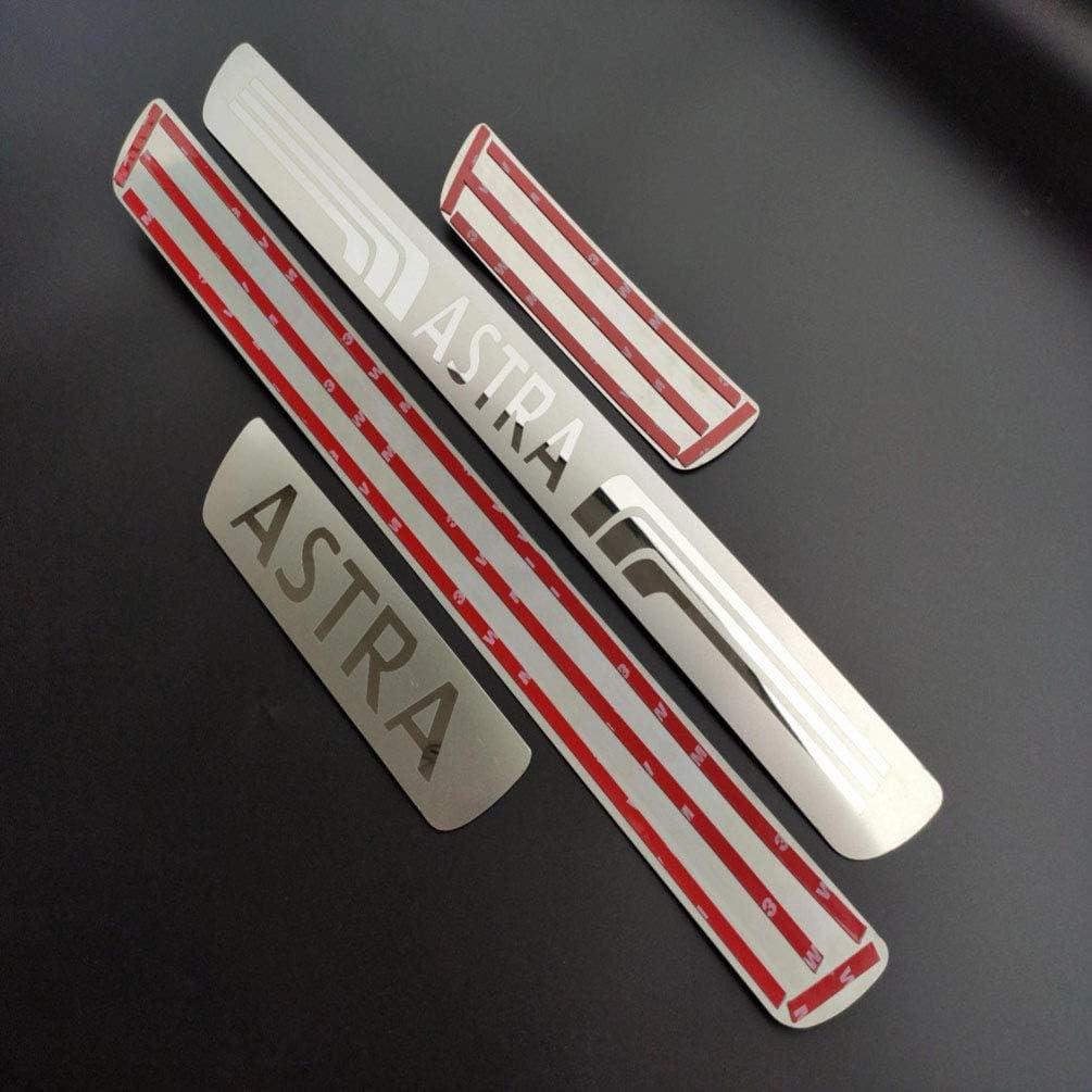 Tira De Protecci/óN Antideslizante Y Antirrayas para Opel Astra 2010-2020 Placas De Protecci/óN para Pedales De Coche Accesorios Decorativos De Estilo FLYWM 4 Piezas De Umbrales De Puerta