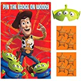 """Amscan Toy Story Power Up Birthday Party Game (4 Pack), 37 1/2"""" X 24 1/2"""", Red/Green/Orange"""