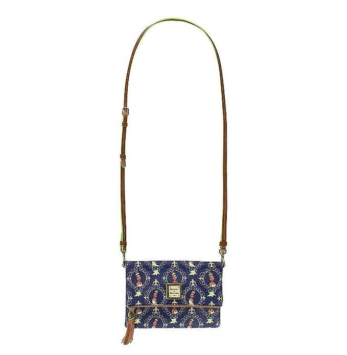 e795693fa1a Amazon.com  Disney Dooney   Bourke Princess Tiana Foldover Zip Crossbody  Bag Purse  Shoes
