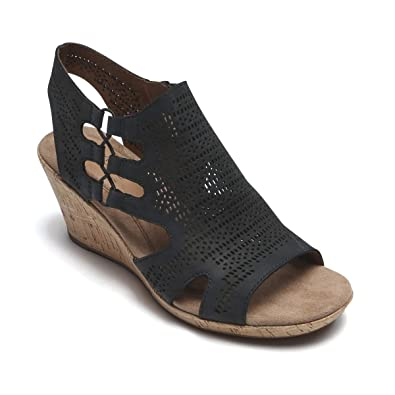96dc313ee6 Image Unavailable. Image not available for. Color: Rockport Cobb Hill  Collection Women's Cobb Hill Janna Perf Bootie Black Nubuck 11 ...