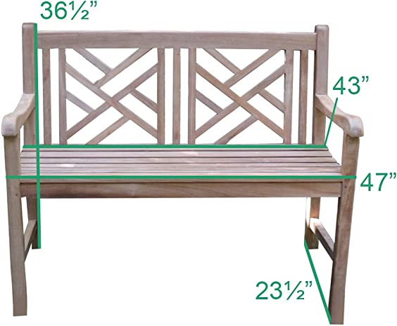 TITAN GREAT OUTDOORS Grade A Teak Cross Bench 47