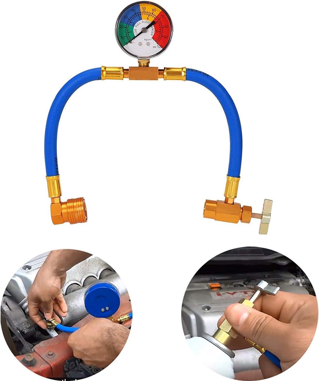 R12 R22 R134A R502 Juego de manómetros para reparación de Aire Acondicionado