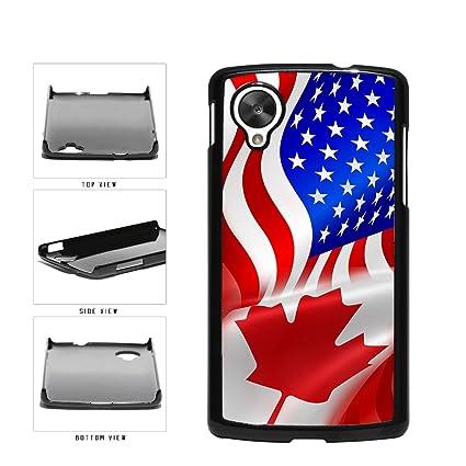 separation shoes 79208 d34a9 Amazon.com: BleuReign(TM) Canada and USA Mixed Flag Plastic Phone ...