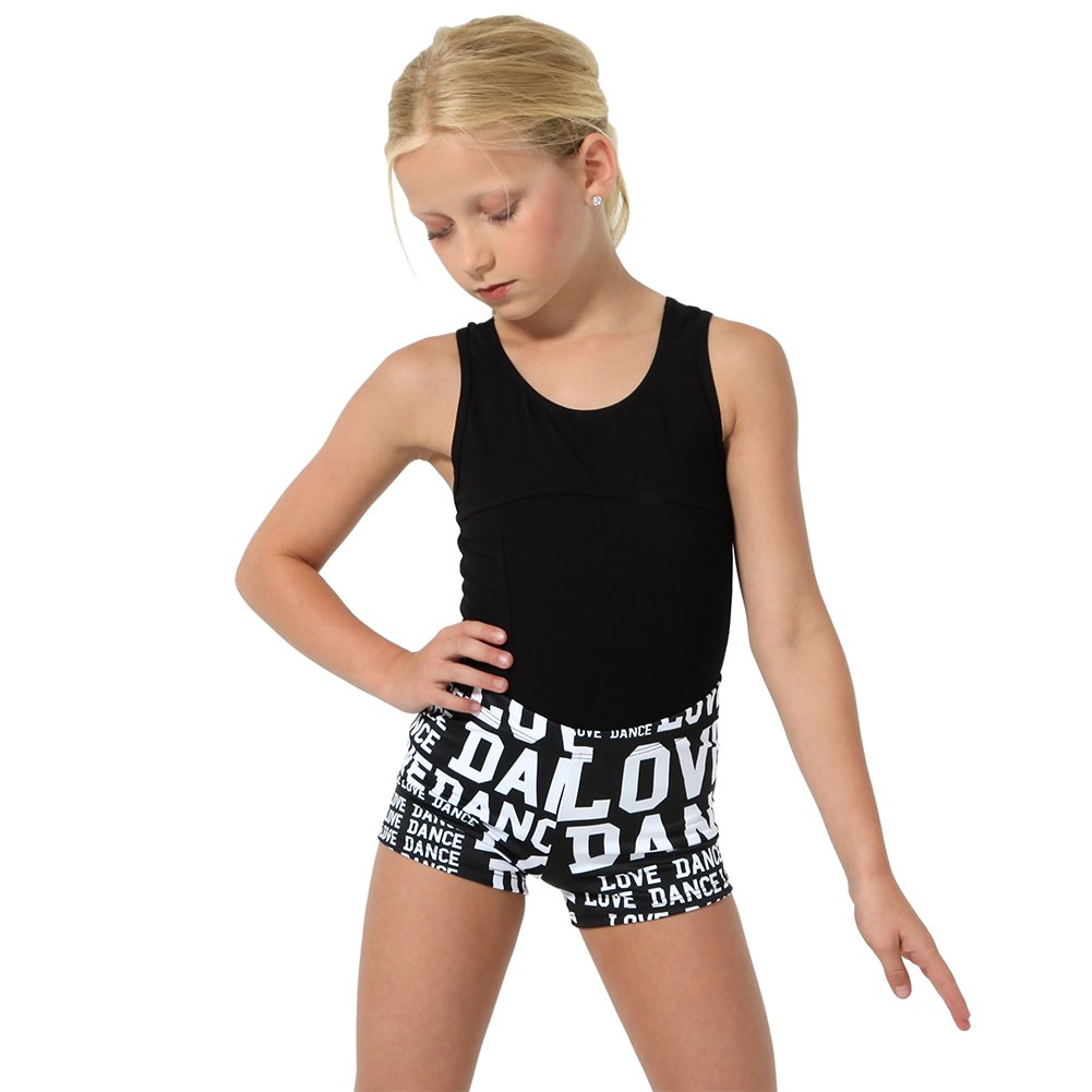 Alexandra Collection Youth Love Dance Athletic Booty Short Black Small