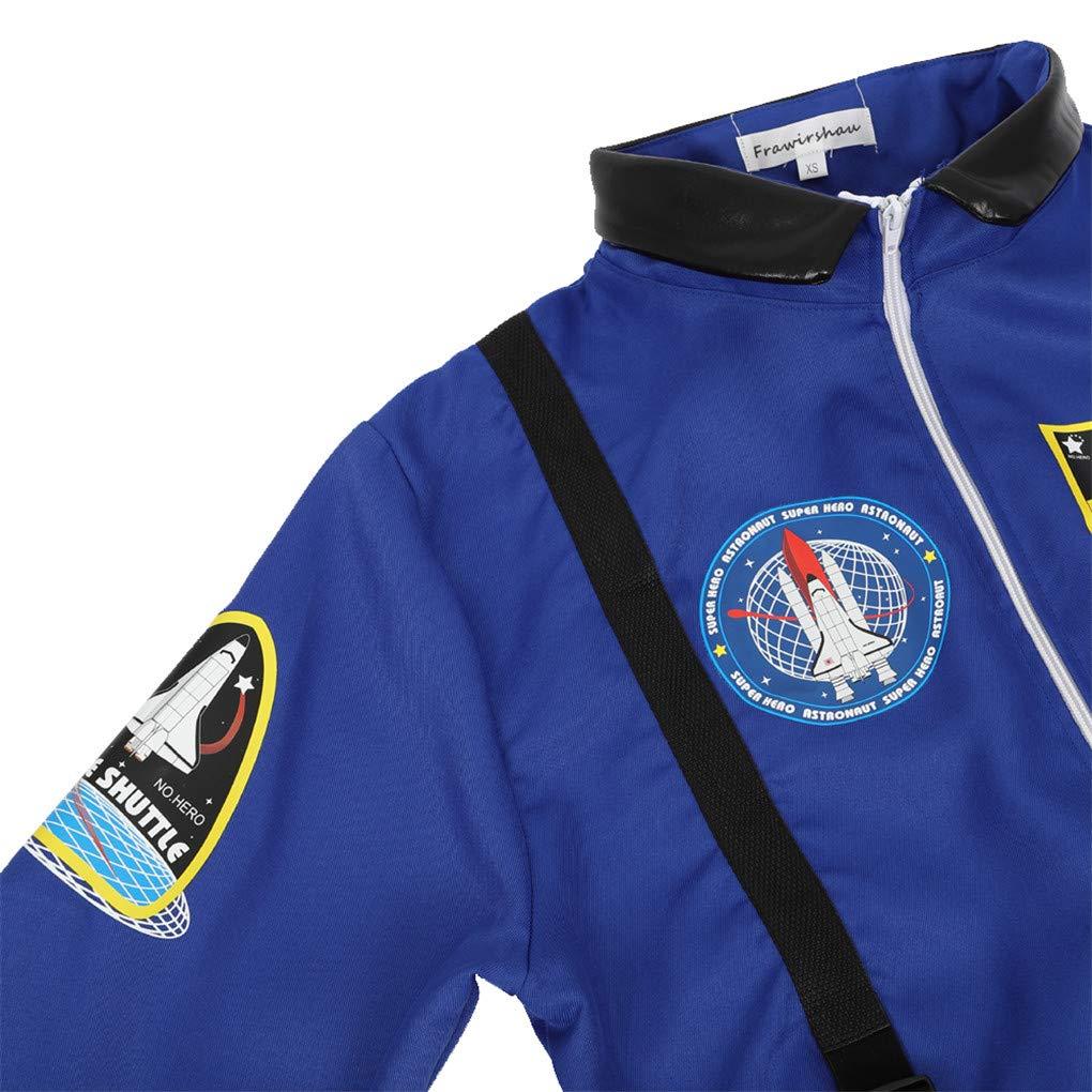frawirshau Womens Astronaut Costume Adult Space Suit Flight Jumpsuit Women Cosplay Costumes