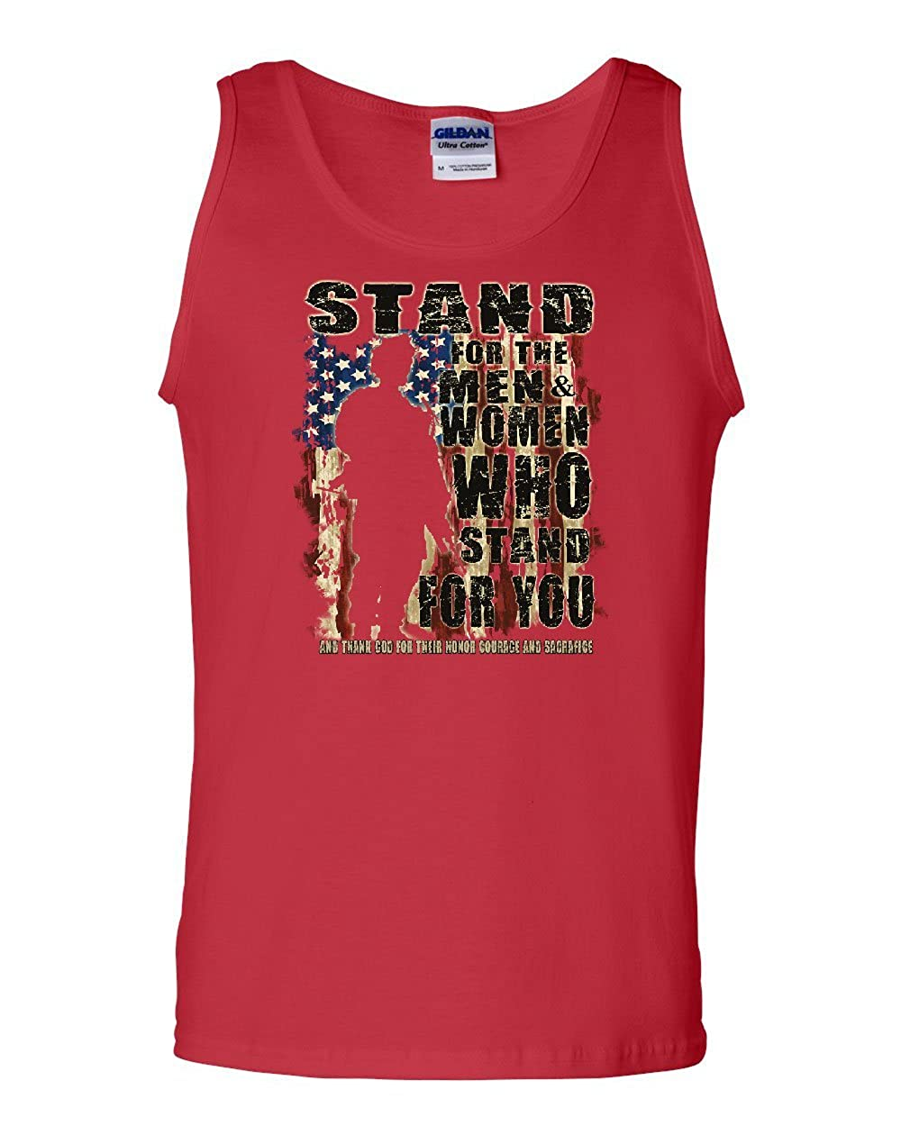 Stand for The Men and Women Tank Top Support Our Troops Patriotic Sleeveless